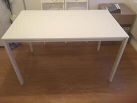 White dinner table