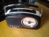 Retro Radio Steepletone,Model Brighton,great looking radio, black, white with chrome trim .