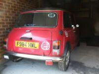 classic Mini, 1988, red, 998cc