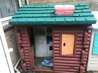 plastic log cabin