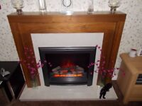 ELECTRIC FIRE AND SURROUND SUITE