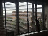 Real wood Venetian walnut tapered Wooden blinds