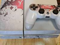 White 500gb PS4 with 5 games
