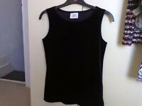 Velvet tops size 12 black only £3 each great for the party season !
