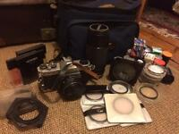 Pentax K1000 with loads of extras