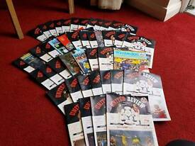Manchester United programmes 80s/90s
