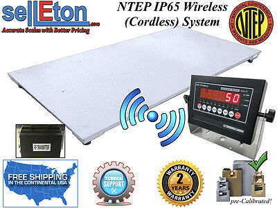 New Ntep Floor Scale 60 X 84 5 X 7 Wireless Cordless 5000 Lbs X 1 Lb