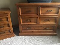 REDUCED - Solid Chunky Wardrobe, Chest of Drawers and Bedside Table Set from Leekes- Ex Condition