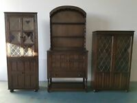 ERCOL DUTCH DRESSER CORNER UNIT & SIDEBOARD SOLID WOOD UNITS WOODEN SET DELIVERY AVAILABLE