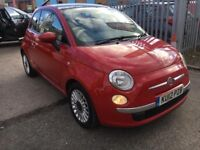 FIAT 500 1.2 LOUNGE PETROL MANUAL RED START STOP SYSTEM PANORAMIC ALLOYS 2012