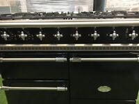 Stunning Lacanche Macon Range cooker 3 ovens Black and Chrome kitchen appliance