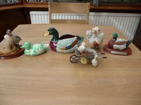 Bargain 10 Items Job Lot Car Boot Table Top Sale Ducks And Bird Ornaments Including 3 Leonardo Ducks