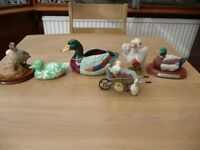 Bargain 10 Items Job Lot Car Boot Table Top Sale Ducks And Bird Ornaments Including 3 Leonardo Ducks