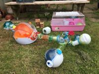 Hamster gym and adventure cage with many accessories to give your hamster a change to his house