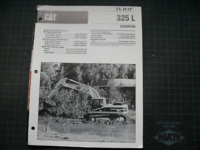 Cat Caterpillar 325 L Excavator Sales Brochure Manual B