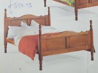 Rustic Solid Wood Bedstead