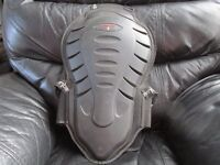 motocross helmet, mx gloves and motorcycling back protector