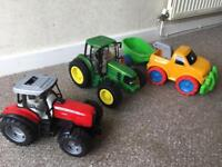 Kids tractor and truck set