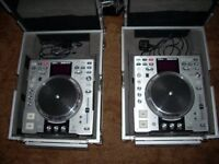 Denon dn3500s dj cd players with flightcases