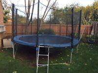 Blue 12ft trampoline