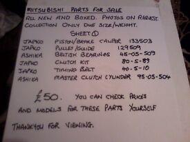 Mitsubishi car parts, new in boxes