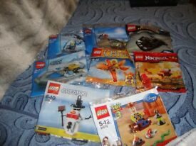 8 bags of lego unopened age 5-12yrs