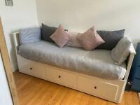 Hemnes lkea white daybed