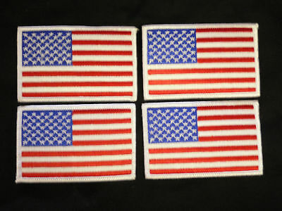 USA Flag patchs  uniform karate tang soo do lot of 4