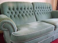 A VALE three seater sofa and armchair