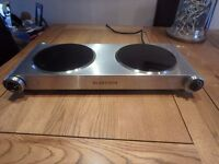 Double Hot Plate Silver , Stainless steel , 2400 watt