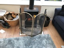 Fire guard brass and black