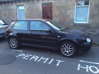 Black golf GTi 2002, Alloy wheels, under 74000 miles, with 7 months MOT