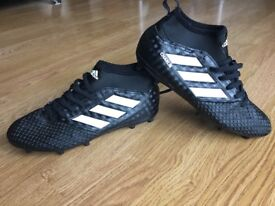 Adidas ace 17.1 black prime knit size 4 with Charlie written on side!!!