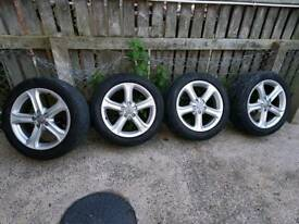 Audi alloys! 4 brand new tyres