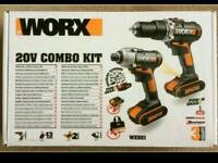 WORKS 20V COMBI KIT BRAND NEW SEALED UNOPENED £129