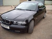 BMV 320TD 150 BHP, COMPACT, 3 DOOR, APRIL 2004 £1350 ono