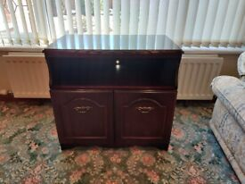TV Stand - Dark Brown/Solid Wood