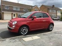 Fiat 500 1.4 Sport, Red Leather Interior, Cheap Insurance