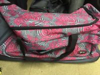 Pink and Grey Duffle bag