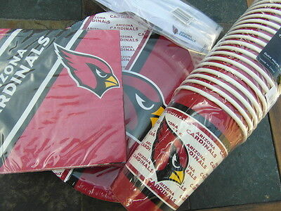 Arizona Cardinals Party Pack 20 Paper Cups Plates, Napkins & 20 Plastic Forks Arizona Cardinals Party Pack
