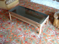 Vintage Meyer Coffee table with Glass Top