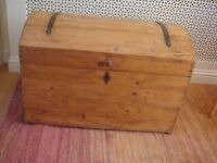 LARGE SOLID PINE/WOODEN STORAGE TRUNK/CHEST £75 o.n.o