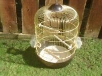 BIRD CAGE WITH POTS AND PERCHES £8