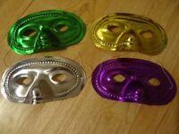 4 x Shiney Masquerade Eye Masks - New