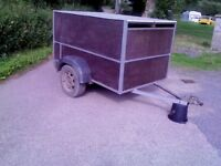 6 x 4 Calf/sheep Trailer with lights,roof, in good condition