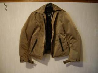 Ladies frank thomas gold textile bike jacket