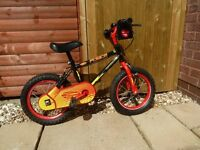 Boys Appollo Force Red/Black 14in wheel bike