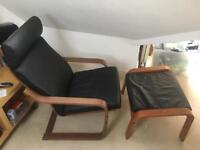 2 x Ikea Armchairs AND footstools