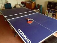 Table tennis table. Hardly used.