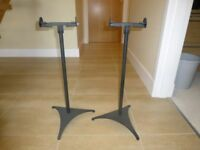 Black Adjustable Speaker Stands